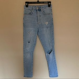 2/$30 Forever 21 Mom Jeans with Rips